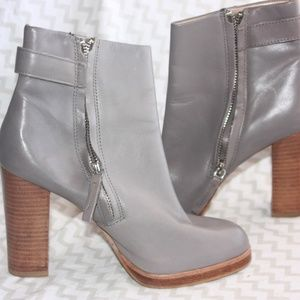 Zara  Woman Grey Ankle Boot